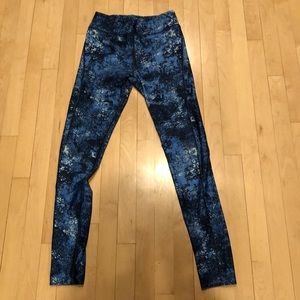 Under armour blue tights